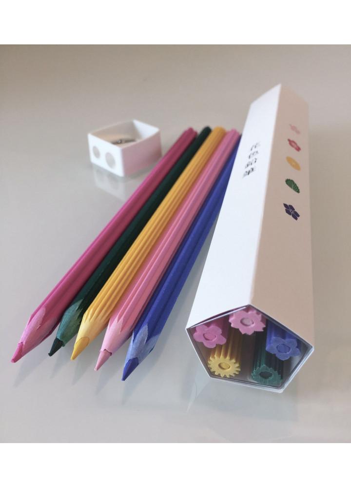 花色鉛筆 • 筆刨