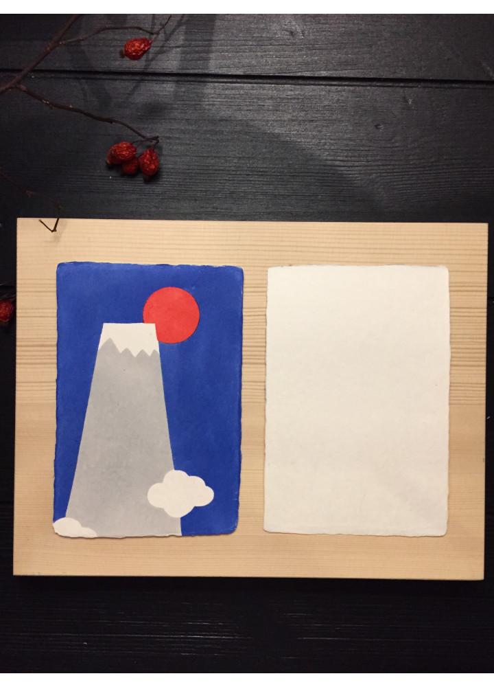 羅工房 • 手摺和紙明信片 • 日出富士
