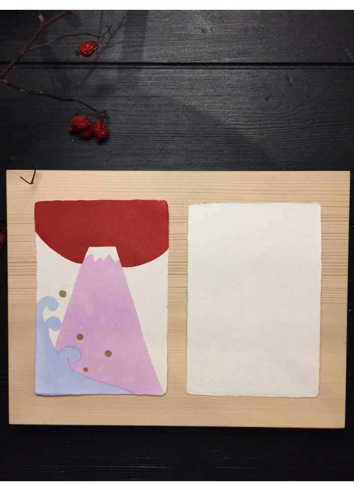 羅工房 • 手摺和紙明信片 • 波浪富士