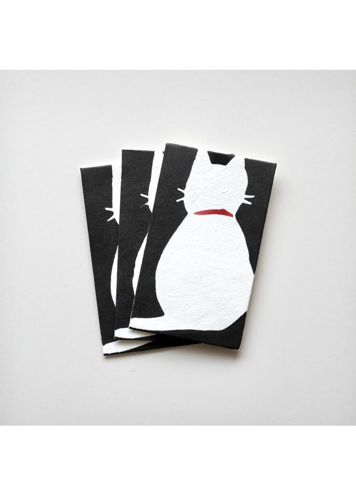 羅工房 • 和紙手摺封 • 猫之背