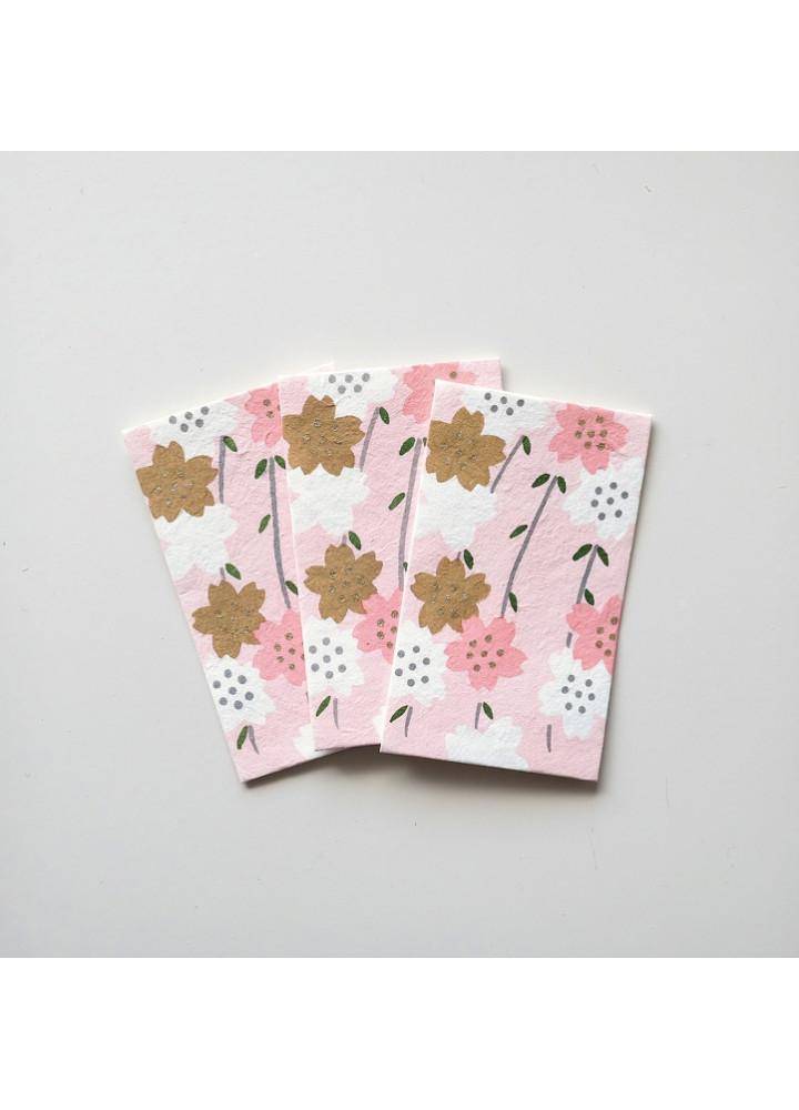 羅工房 • 和紙手摺封 • 粉櫻