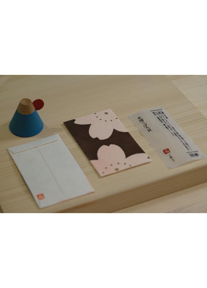 羅工房 • 和紙手摺封 • 兩朵櫻