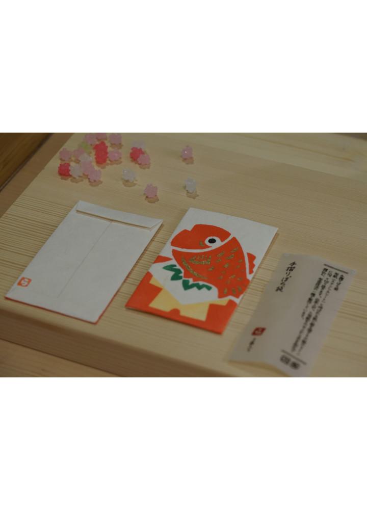 羅工房 • 和紙手摺封 • 鯛