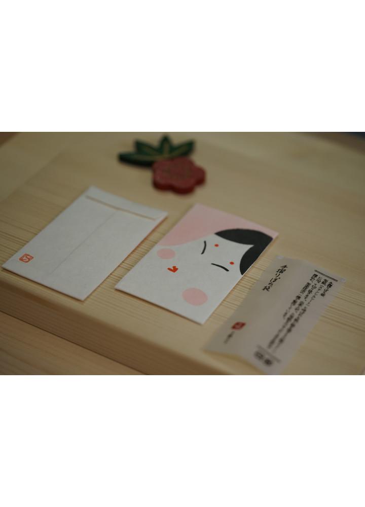 羅工房 • 和紙手摺封 • 女臉