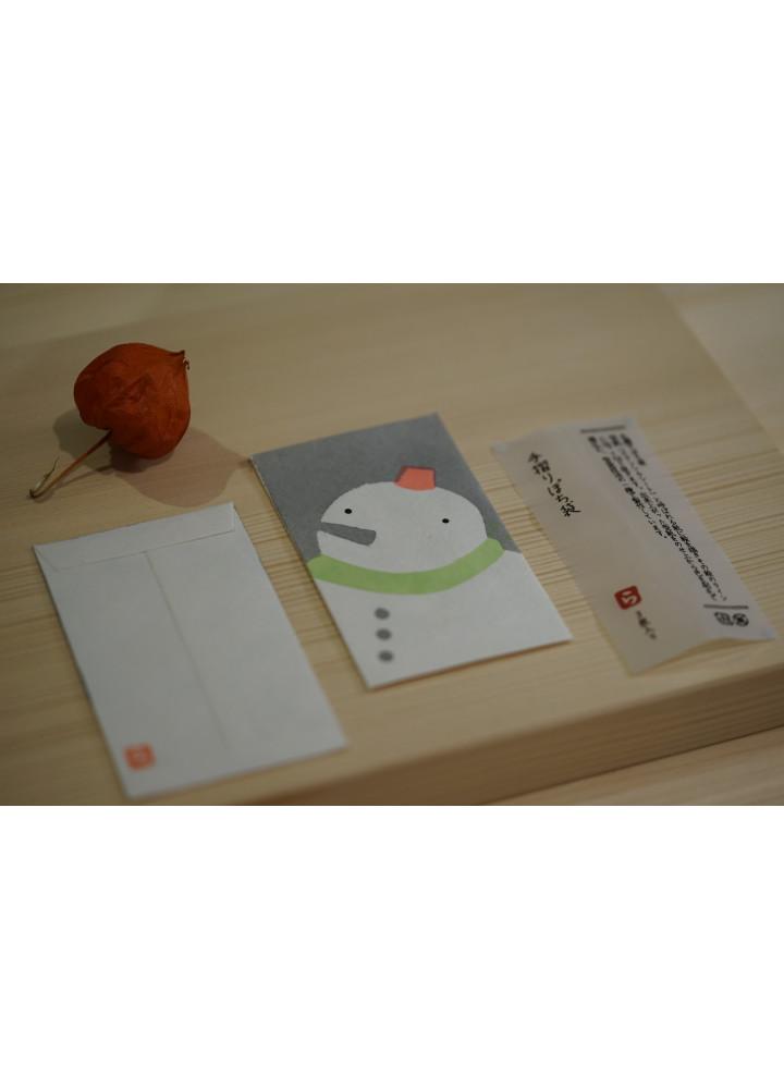 羅工房 • 和紙手摺封 • 雪人