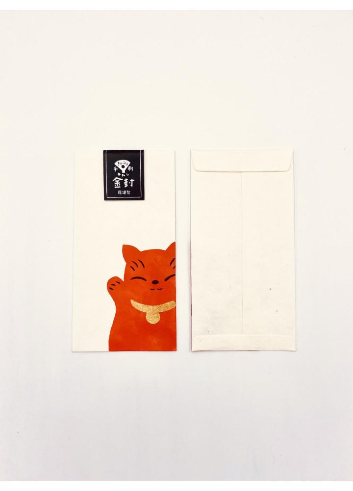 羅工房 • 和紙金封 • 招財貓