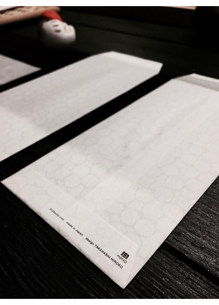 3120 Mino 半透明和紙印花信封 • Bubble