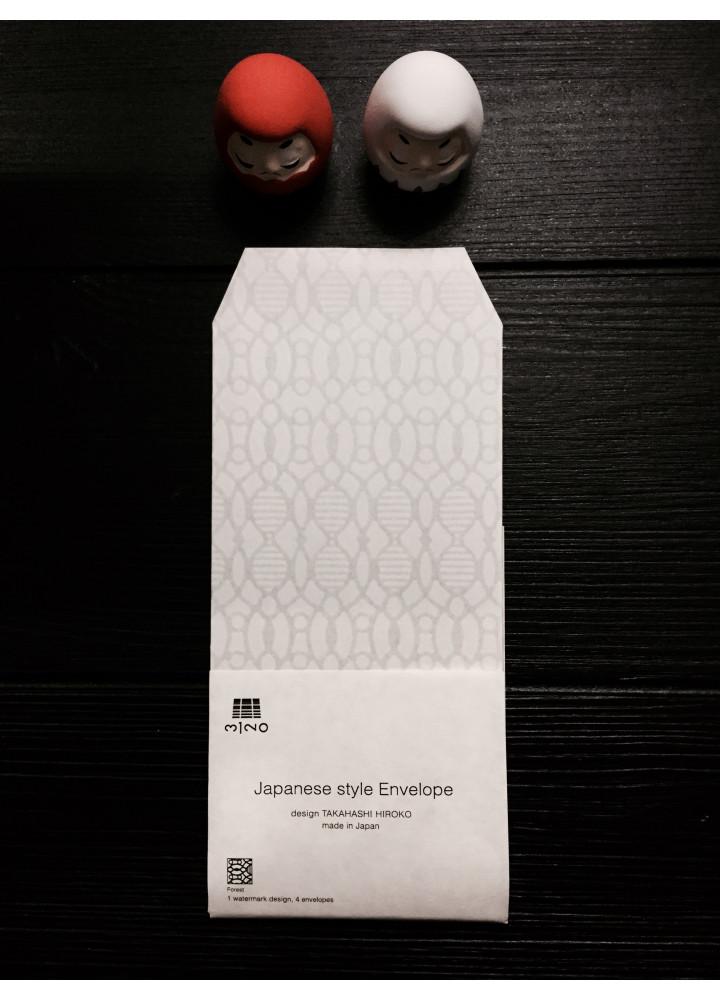 3120 Mino 半透明和紙印花信封 • Forest