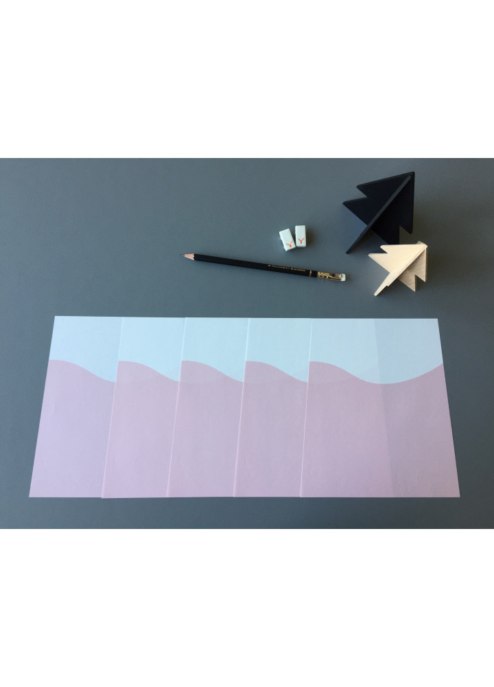 Mt. Fuji writing paper • あかふじ