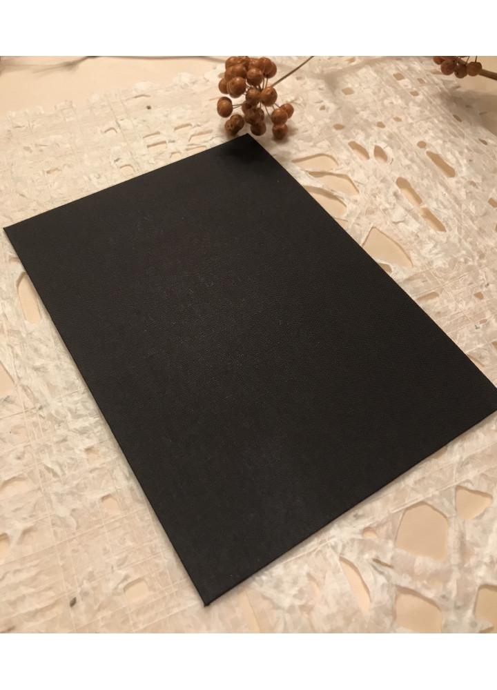 黑色布紋記事簿封面