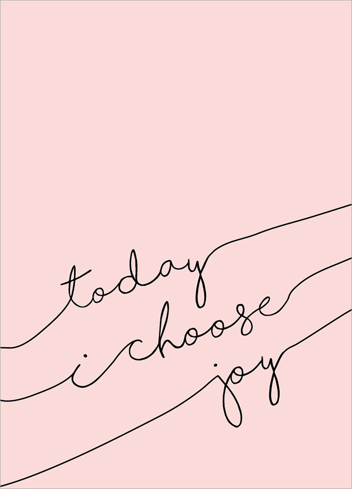 記事本封面 - Today I choose joy