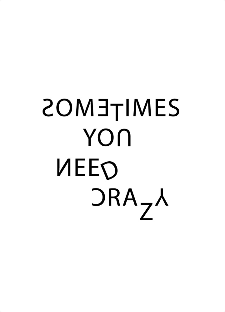 記事本封面 - Sometimes you need crazy