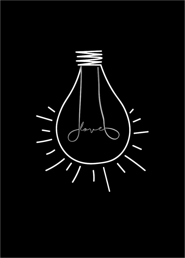 記事本封面 - Bulb in love