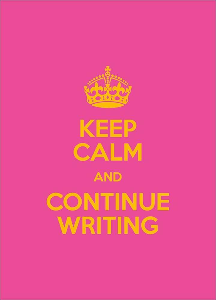 記事本封面 - Keep calm and continue wrting