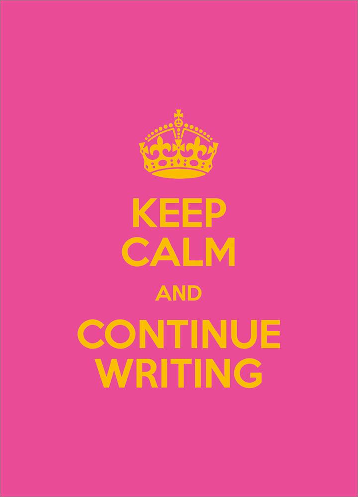 記事本封面 - Keep calm and continue wrting
