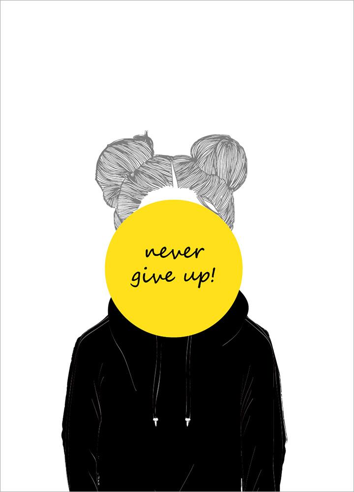 記事本封面 - Never give up